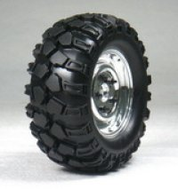 1.9クローラータイヤセット 90mm (鉄チンホイール付/クロームシルバー/2コ)