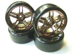 画像3: ドリフトタイヤ&5Wスポーク深リムホイール(オフ7mm/4コ入)