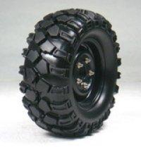 1.9クローラータイヤセット90mm (鉄チンホイール付/ブラック/2コ)