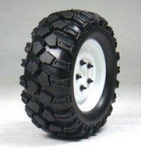 1.9クローラータイヤセット90mm(鉄チンホイール付/ホワイト/2コ)