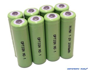 画像1: NO-122000-8/ダッシュパワーNiMH 1.2V 2000mAh 単3型ニッケル水素バッテリー8本セット