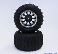 デザートパターンタイヤ・シルバーメッキリムホイルセット(CW01リヤ用/接着済)